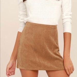HEAD OF THE CLASS BROWN CORDUROY MINI SKIRT size S